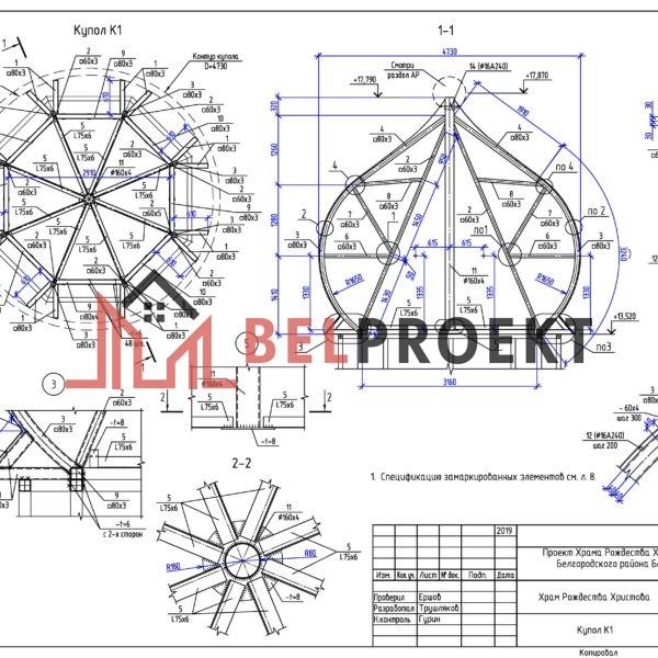 Конструкция купола